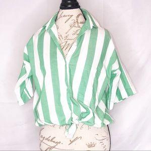 Vintage Diane Von Furstenberg Cotton Shirt Top